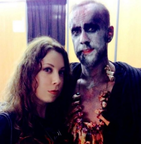 Laura Christine and Nergal Darski of Behemoth